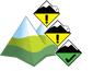 Avalanche Bulletin - Jasper National Park: alpine: 2 - Moderate, treeline: 2 - Moderate, below treeline: 1 - Low
